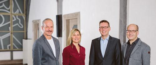 Herr Striebel, Frau Kilian, Herr Beck, Herr Mohr (v.l.n.r.)